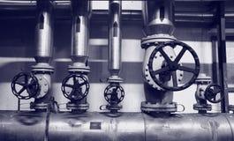 gazowych systemów oleiste industries fotografia stock