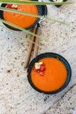 gazpacho ανασκόπησης κουζίνας εστίασης πορτοκαλιών εκλεκτικό ισπανικό κρασί ρυζιού paella κόκκινο Ανδαλουσιακή κρύα σούπα που εξυ Στοκ φωτογραφίες με δικαίωμα ελεύθερης χρήσης