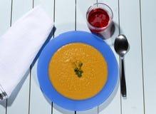 Gazpacho καρότων Στοκ εικόνες με δικαίωμα ελεύθερης χρήσης