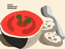 gazpacho Alimento espanhol típico Fotografia de Stock Royalty Free