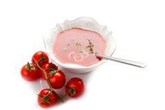 Gazpacho avec des tomates images libres de droits