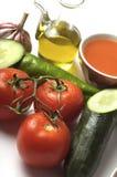 Gazpacho Bestandteile Lizenzfreies Stockfoto