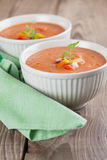 Gazpacho in bowls Stock Photography
