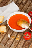 Gazpacho dish Royalty Free Stock Images