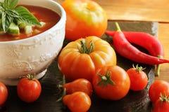 Gazpacho fresco do tomate Imagem de Stock