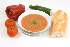 Gazpacho, gekoelde Spaanse soep Stock Fotografie