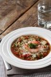Gazpacho met garnalen Royalty-vrije Stock Afbeeldingen