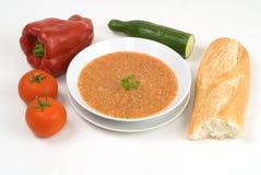 Gazpacho, sopa española enfriada Fotografía de archivo