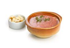 Gazpacho soup. Italian cold soup gazpacho Royalty Free Stock Photography