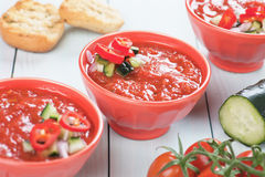 Gazpacho soup Stock Photos