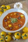 Gazpacho, soupe andalouse froide photo stock