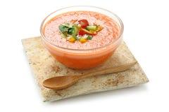 Gazpacho , spanish cold vegetable sou Royalty Free Stock Photo