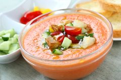 Gazpacho , spanish cold vegetable sou Royalty Free Stock Images
