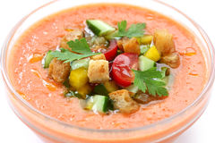 Gazpacho , spanish cold vegetable sou Royalty Free Stock Photo