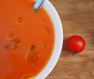 Gazpacho, spanish raw tomato and vegetable soup Royalty Free Stock Photo