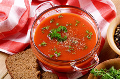 Gazpacho tomato  soup Royalty Free Stock Photos