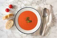 Gazpacho (tomato soup) Royalty Free Stock Photography