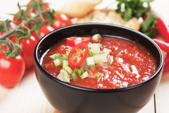 Gazpacho tomato soup Royalty Free Stock Images