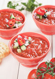 Gazpacho tomato soup Stock Photography