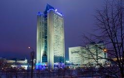 Gazprom acquartiera l'ufficio a Mosca Fotografia Stock