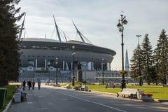 Gazprom areny sportów Nowy stadium w St Petersburg zdjęcia stock