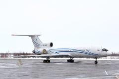 Gazprom Avia Tupolev Tu-154M stock image