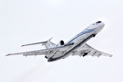 Gazprom Avia Tupolev Tu-154M Royalty Free Stock Photos