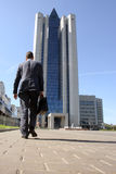 The Gazprom bilding Stock Photo
