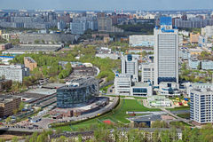 Gazprom budynki Zdjęcia Royalty Free