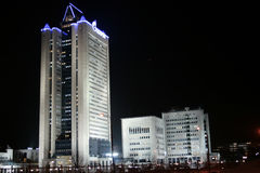Gazprom buildings Royalty Free Stock Images