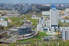 Gazprom buildings Royalty Free Stock Photos