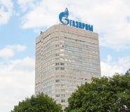 Gazprom företagsbyggnad Royaltyfria Foton