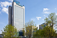 Gazprom tower headquater. Moscow. Stock Images