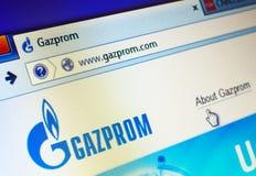 Gazprom website Stock Photo