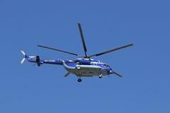 Gazpromavia航空公司直升机做飞行 免版税库存照片