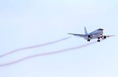 Gazpromavia苏霍伊超音速喷气飞机100 免版税图库摄影