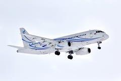 Gazpromavia苏霍伊超音速喷气飞机100-95LR 免版税库存照片
