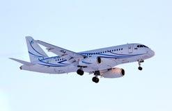 Gazpromavia Sukhoi Superjet 100 royalty-vrije stock foto