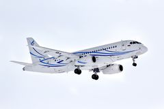 Gazpromavia Sukhoi Superjet 100-95LR Royalty Free Stock Photos