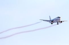 Gazpromavia Sukhoi Superjet 100 Royalty Free Stock Photography