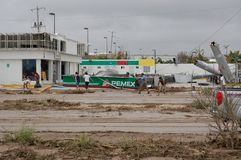 Gazstation από τον τυφώνα Odile Στοκ φωτογραφίες με δικαίωμα ελεύθερης χρήσης