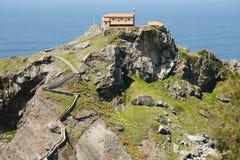 Gaztelugatxe - Bermeo - Spain. Gaztelugatxe Monastery in Bermeo - Spain Stock Photos