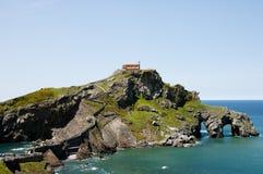 Gaztelugatxe - Bermeo - Spain. Gaztelugatxe Monastery in Bermeo - Spain Royalty Free Stock Images