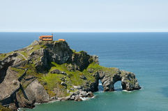 Gaztelugatxe - Bermeo - Spain. Gaztelugatxe Monastery in Bermeo - Spain Stock Images