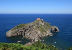 Gaztelugatxe in Biscay Bay, Basque Country, Spain. San Juan de Gaztelugatxe in Biscay Bay, Basque Country, Spain Stock Photo