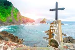 Gaztelugatxe españa País vasco Islote hermoso del paisaje imagen de archivo libre de regalías
