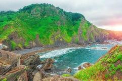 Gaztelugatxe españa País vasco Islote hermoso del paisaje fotografía de archivo libre de regalías