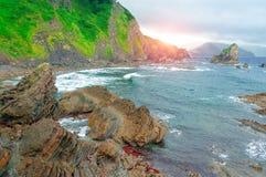 Gaztelugatxe españa País vasco Islote hermoso del paisaje foto de archivo