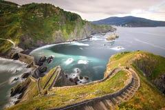 Gaztelugatxe San Juan de baskijski kraj Fotografia Royalty Free