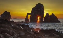 Gaztelugatxe VIII. Sunset photography and maritime Gaztelugatxe in Spain Royalty Free Stock Image